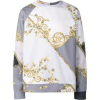 Versace Collection Moletom Com Estampa - Cinza