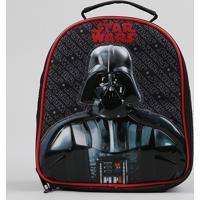 Lancheira Térmica Escolar Infantil Darth Vader Star Wars Preta