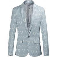 Blazer Masculino Design Bordado - Azul Claro