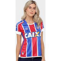 Netshoes  Camisa Bahia Ii 17 18 Nº 10 - Torcedor Umbro Feminina - Feminino 67331a995b7ae