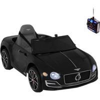 Carro Infantil Eletrico Bentley Exp12 6V Com Controle Remoto - Unissex-Preto