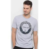 Camiseta Hd Dark Floral Masculina - Masculino-Cinza