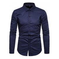 Camisa Masculina Social Slim Mackay - Azul Escuro
