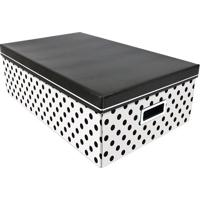 Caixa Organizadora G Balls- Preta & Branca- 16X31X50Boxmania