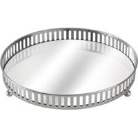Bandeja Com Espelho Suíça Prata 20 Cm