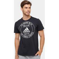 Camiseta Adidas Badge Masculina - Masculino-Preto