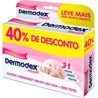 Dermodex Prevent Creme 40% De Desconto Com 2 Unidades De 60G Cada Leve Mais Pague Menos
