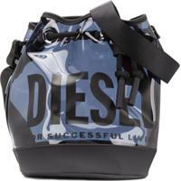 Diesel Kids Bolsa Bucket Com Estampa De Logo - Azul