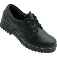 Sapato Fofiori Oxford Napa Feminino - Feminino-Preto