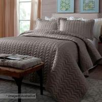 Conjunto De Colcha Home Design Queen Size- Taupe- 3Pcorttex