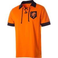 Camisa Polo Retrô Gol Réplica Seleção Holanda Torcedor - Masculino