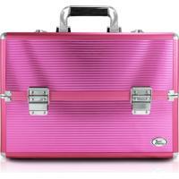 Maleta Profissional De Maquiagem Grande Jacki Design Beauty Pink - Rosa - Feminino - Dafiti