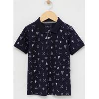 Camiseta Polo Infantil Estampada - Tam 1 A 4