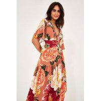 Vestido Transpasse Danca Floral Est Danca Floral_Rosa Guara - P