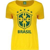 Camiseta Spr Brasil Cbf Logo Feminina - Feminino