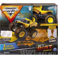 Playset Com Rampa E Veículo - Monster Jam - Dirt Starter - Earth Shaker - Sunny