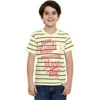 Camiseta Infantil Com Frase Frontal Abrange