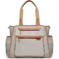 Bolsa Maternidade Skip Hop (Diaper Bag) Grand Central - Unissex-Branco+Caramelo