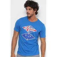 Camiseta Cruzeiro Flag Nations Torcedor Umbro Masculina - Masculino-Azul