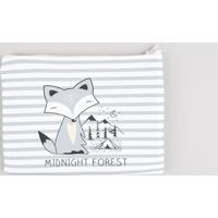 "Nécessaire Feminina Listrada ""Midnight Forest"" Branca - Único"