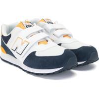 New Balance Kids Tênis 574 Com Velcro - Amarelo