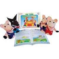 Fantoche + Livro Os Tres Porquinhos - Fundamental - Kanui