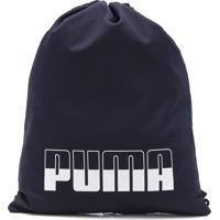 Bolsa Puma Plus Gym Sack Li Azul-Marinho