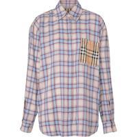 Burberry Camisa Vintage Xadrez - Azul