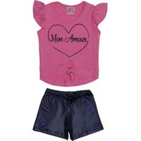 Conjunto Infantil Para Menina - Rosa