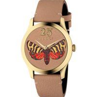 73daa7e6945 Relógio Gucci Feminino Couro Marrom - Ya1264063