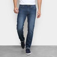 Calça Jeans Calvin Klein Slim Five Pockets Masculina - Masculino-Azul