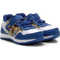 Tênis Jogging Infantil Disney Velcro Toy Story - Masculino-Azul Royal
