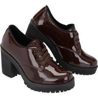 Sapato Oxford Cano Curto Selten Feminino - Feminino-Marrom