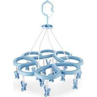 Mini Varal Jacki Design Com 16 Prendedores Ayj17256-Az Azul Unico