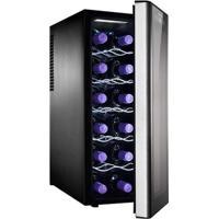 Adega De Vinho 12 Garrafas Preta 110V Acs12 - Electrolux