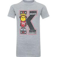 Camiseta Kings K - Infantil - Cinza Claro