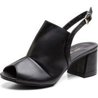 Sandália Ankle Boot Salto Grosso Médio Feminina Casual - Kanui