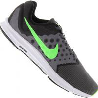 Tênis Nike Downshifter 7 - Masculino - Cinza Esc/Verde Cla