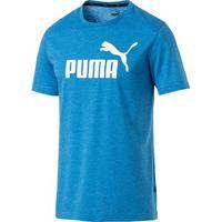 Camiseta Puma Ess+ Heather Masculina - Masculino-Azul