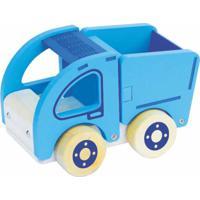 Carrinho De Madeira Newart Toys Coleção Carrinhos - Caçamba - Azul