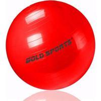 Bola Suiça Pilates Yoga 55Cm Som Bomba De Encher Gold Sports Pro - Unissex