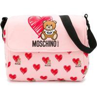 Moschino Kids Bolsa Maternidade Com Logo - Rosa
