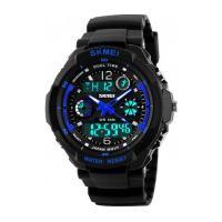 Relógio Skmei Infantil -0931- Preto E Azul