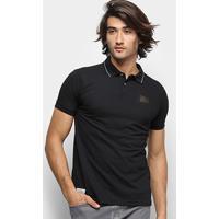 Camisa Polo Ecko Piquet Fash Basic Masculina - Masculino-Preto