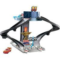 Pista De Percurso E Veículo - Disney - Pixar - Carros - Torre Rust-Eze - Mattel