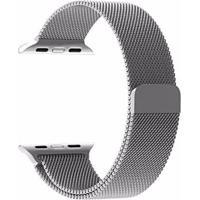 Pulseira Milanês Para Apple Watch 42Mm Aço Inoxidável Prata