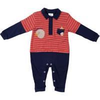 Macacão Infantil Para Bebê Menino - Vermelho/Azul