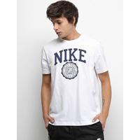 Camiseta Nike Nsw Uni Athtltc Masculina - Masculino-Branco+Azul