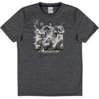 Camiseta Em Meia Malha Estampada Preto