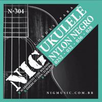Encordoamento Nig Para Ukulele Soprano N-304 Nylon Negro